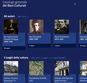 Sito web del Catalogo Generale dei Beni Culturali_Regione Sicilia